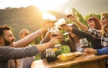 Die Vereinigung des Sports, der Unterhaltung und des Weins